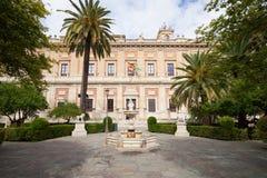 Allgemeines Archiv der Inseln in Sevilla Stockbilder