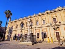 Allgemeines Archiv der Inseln in Sevilla, Spanien Stockbild