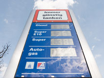 Allguth gas prices Royalty Free Stock Image