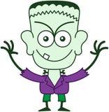 Allhelgonaafton Frankenstein som är busig Arkivbilder