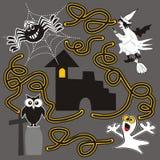 Allhelgonaafton labyrint Fotografering för Bildbyråer
