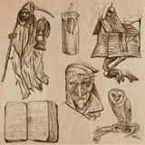 Allhelgonaafton monster, magi - vektorsamling Arkivbilder