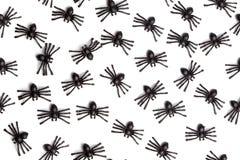 Allhelgonaafton - spindlar - sömlös bakgrundsmodell Royaltyfri Fotografi