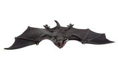 Allhelgonaafton - Toy Bat - som isoleras på vit bakgrund Royaltyfri Fotografi