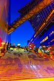 Allhelgonaaftonbelysning på den Kyoto stationen Arkivbilder