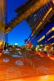 Allhelgonaaftonbelysning på den Kyoto stationen Fotografering för Bildbyråer