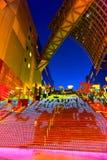 Allhelgonaaftonbelysning på den Kyoto stationen Royaltyfria Bilder