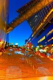 Allhelgonaaftonbelysning på den Kyoto stationen Royaltyfria Foton