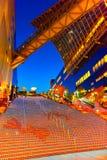 Allhelgonaaftonbelysning på den Kyoto stationen Arkivfoto