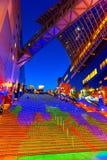 Allhelgonaaftonbelysning på den Kyoto stationen Royaltyfri Bild
