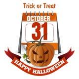 Allhelgonaaftondesign lyckliga halloween behandla trick royaltyfri illustrationer
