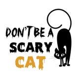 Allhelgonaaftondesign med den läskiga katten royaltyfri illustrationer