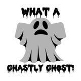 Allhelgonaaftondesign med spöken Royaltyfria Bilder