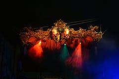 Allhelgonaaftonfasa på nätterna på universella Orlando Arkivfoto