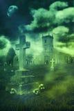 Allhelgonaaftonkyrkogård Royaltyfria Bilder