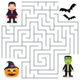 Allhelgonaaftonlabyrint - Dracula & Frankenstein Royaltyfria Bilder