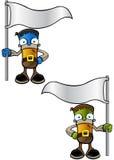 Allhelgonaaftonmonster - rymma en flagga Arkivfoton