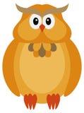 Allhelgonaaftonnedgångfärg Owl Illustration stock illustrationer