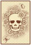 Allhelgonaaftonpokerkort med skallen royaltyfri illustrationer