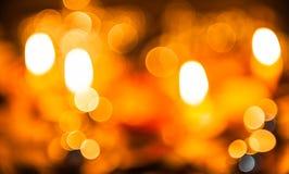 Allhelgonaaftonstearinljusljus Arkivfoton