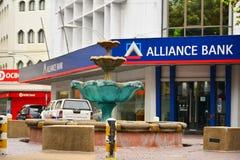 Alliance Bank Malaysia Facade in Kota Kinabalu, Malaysia. KOTA KINABALU, MY - JUNE 21: Alliance Bank Malaysia facade on June 21, 2016 in Kota Kinabalu. Alliance Royalty Free Stock Images