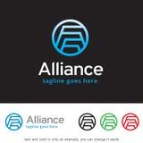 Alliance Logo Template Design Vector Royalty Free Stock Image
