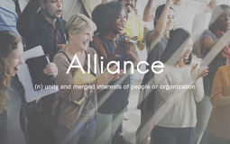 Alliance Team Combine Corporate Partnership Concept Immagini Stock