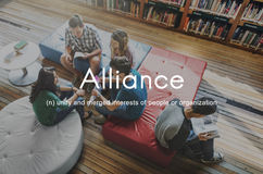 Alliance Team Combine Corporate Partnership Concept Fotografia Stock Libera da Diritti