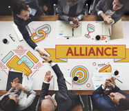 Alliance Team Together Collaboration Partnership Concept Fotografie Stock