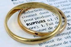 Allianser på definitionen av brister skriftligt i franskt royaltyfri fotografi