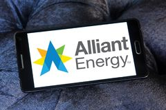 Alliant Energy logo. Logo of Alliant Energy on samsung mobile. Alliant Energy Corporation is a public utility holding company Stock Images