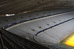 Allianz Arena. Footbal stadium, inside view stock photography