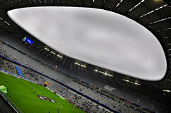 Allianz Arena. Wide view from inside the Allianz Arena royalty free stock image