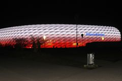 Allianz Arena arkivfoton