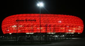 Allianz Arena Stockfoto