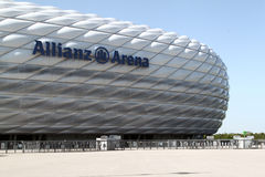 Allianz Arena. Bayern, at Munich, Germany stock images