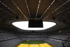 Allianz Arena interior. Interior view of Allianz Arena, the largest football stadium in Munchen royalty free stock images