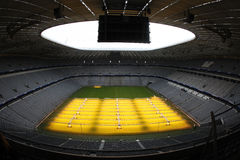 Allianz Arena interior. Interior view of Allianz Arena, the largest football stadium in Munchen stock photography