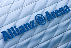 Allianz Arena, Munich. Famous landmark, exterior of the Allianz Arena in Munich, Germany stock photo
