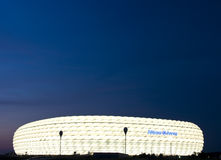 Allianz Arena at night Royalty Free Stock Photo