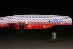 Allianz arena. Night view of Allianz Arena in Munich in November 2015 Stock Photos