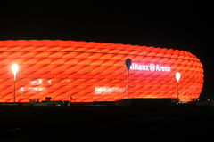 Allianz arena. Night view of Allianz Arena in Munich in November 2015 Royalty Free Stock Image