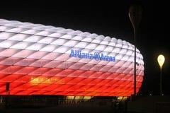Allianz arena. Night view of Allianz Arena in Munich in November 2015 Stock Photo