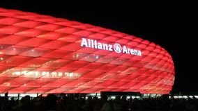 Allianz Arena rot Stock Images