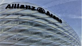 Allianz areny stadium w Muenchen Niemcy obraz royalty free