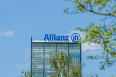 The Allianz complex in Alt-Treptow. Stock Image