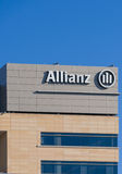 Allianz Corporate Building and Logo Royalty Free Stock Image