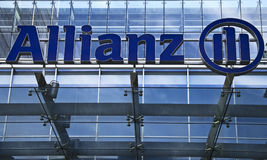 Allianz Group. Frankfurt (Germany) branch of Allianz Life Insurance. Allianz Group is an international financial services provider offering insurance, banking royalty free stock photography