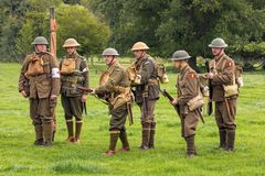 Allied Soldiers of WW1. Royalty Free Stock Images