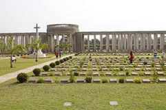 Allied War Memorial Cemetery (Htauk Kyant) Stock Photo